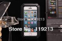 Taktik Case for iPhone 5s Aluminum Metal Lovemei Case with Gorilla Glass with Fingerprint ID
