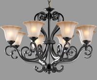 European style luxury iron pendant light 8 head living room pendant light dining room pendant light free shipping