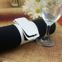 white napkin ring for wedding