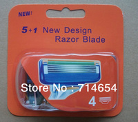 Free Shipping(8pieces/lot) Men blades in Neutral Packaging For F_sion AAA Grade Razor blades Standard for US&RU&Euro