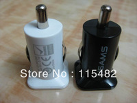 5V 3.1A 3100MA Mini Micro Auto Dual USB Car charger USAMS for iphone 4GS 3GS ipod IPAD /IPAD2 Hight quality Free DHL/Fedex