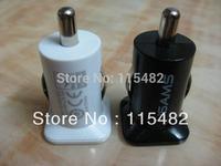 5V 3.1A 3100MA Mini Micro Auto Dual USB Car charger USAMS for iphone 4GS 3GS ipod IPAD /IPAD2 Hight quality Free DHL/Fedex