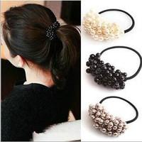 Hot selling!!New arrival designer brand hairwear for women,fashion handmade beaded imitation pearl headbands,trendy hair jewelry
