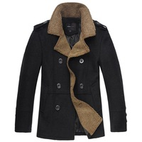 Fashion Mens coat wool peacoat Slim Winter Trench coat parka Overcoat jacket