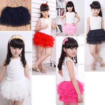 Бесплатная доставка новый 2014 девушки мода детские юбки 7 цвета новинка девушки юбки розовый , зеленый , желтый радуга девушки юбки
