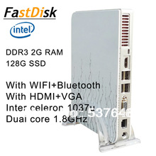 mini pcs with intel celeron 1037u dual core 1.8GHz   with WIFI +Bluetooth  support HDMI+VGA 2G  DDR3 RAM 128G SSD