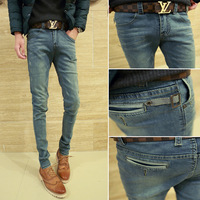 Winter male jeans men's clothing slim skinny pants tapered type trend jeans pencil pants