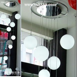 Led stair lamp hybrid-type stair pendant light brief modern pendant light cover lamp ball pendant light stair(China (Mainland))