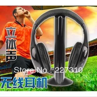 5 IN1 TV computer HIFI RF Wireless Headband bass Headphone Earphone Headset Earphones FM radio with microphone gift for chat(China (Mainland))