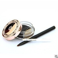 New 1x Cosmetic Dual Stereo Charm Eye Liner Makeup Waterproof Eyeliner Gel Cream With Brush Freeshipping