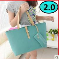 HOT SALE 2014 PROMOTION New Fashion High Quality PU Leather Women's Shoulder Bag Change Pocket Casual Handbag Free shipping