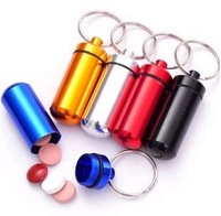 Top quality Micro Pill box Cache Container Geocache Geocaching Key rings keychain holder vial BS10 200pcs