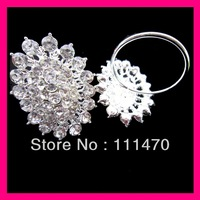 FREE SHIPPING wholesale 150pcs/lot flower crystal rhinestone napkin ring for wedding party table,rhinestone holder