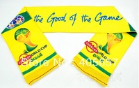 New Soccer World Cup Badge Scarf For 2014 Brazil World Cup Soft Long Cheering Scarf Big Letter