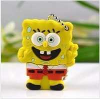 Free shipping rubber sponge bob mix 2.0 usb flash drive, 2GB,4GB,8GB,16GB,32GB F-H017