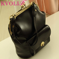 BUENO 2014 hot new arrival fashion clip women handbag frog mouth clutch bag vintage messenger bags day clutches HL1540