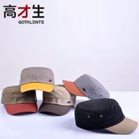 Outdoor casual hat color block decoration cadet cap metal mark of breathable hole military hat male women's cap