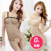 Women's sexy underwear milk transparent sexy open-crotch split skimpily perspectivity of temptation to sleep set free shiping
