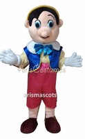 Adult 3D  pinocchio  Mascot Costume Fancy Dress Suit Halloween Outfit Free Shipping mascot costume
