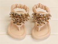 Children Girls Princess Style Sequins Sandals Rose Rhinestone Shoes Girl Sandals Girl Shoes Flip Flops Pink Beige Summer Shoes