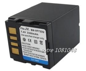 free shipping 7.2V 3300mAh BN-VF733 VF733 Replacement Camcorder Battery kit for JVC BN-VF733 BN-VF707U BN-VF714U BN-VF733U(China (Mainland))