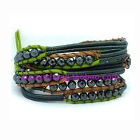 new arrival, Jeseny bracelet lucky stone 5 ring natural hematite wrap bracelet