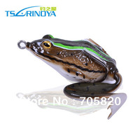 Super,Lifelike 3D eyes Snakehead Killer Soft Frogs Fishing Lures,Floating soft baits with tail,55mm 16g,4pcs/lot,Free shipping