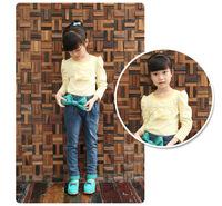 children pants bow green girls jeans wholesale 6pcs/lot 100-160cm kids pants new 2013  high quality children's jeans