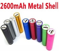 High Quality 200sets=600pcs 2600mAh aluminum Power Bank External Battery pack For iphone 5S 5C HTC Nokia FEDEX Free Shipping