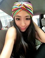 free shipping wholesale/Retail 2014 rainbow headband design Head Wrap