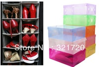 Hot selling PP shoes storage box ( 20 pieces/lot ) Fashion PP shoes box Practical DIY shoes storage box Fast delivery