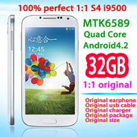 Perfect 1:1 S4 SIV MTK6589 i9500 Quad Core 1.6GHz Android4.2 Air Gesture1980*1080 12.8MP 5 Piont Touch Screen