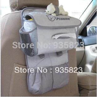 Car Auto Vehicle Seat Side Back Storage Pocket Backseat Hanging Storage Bags Organizer receive bag Free Shipping(China (Mainland))