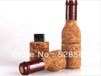 New Wooden Wine Bottle 1GB/2GB/4GB/8GB/16GB/32GB/64GB USB Flash Drive With Free Shipping