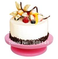 "New arrival Pink color Pro 11"" Rotating Revolving Cake Sugarcraft Turntable Decorating Stand Platform"