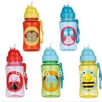 High Quality 100% tritan zoo baby cups baby cartoon water bottle Straw Bottle BPA FREE NO PVC NO Phthalate sports bottle