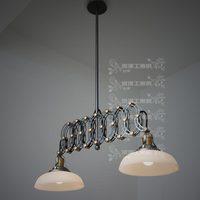 Factory wholesale Deg . romantic deg . loft nostalgic double slider scissors pendant light