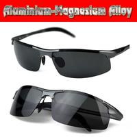 Aluminium titanium magnesium alloy battle field style polarized UV400 UV100% mens sunglasses