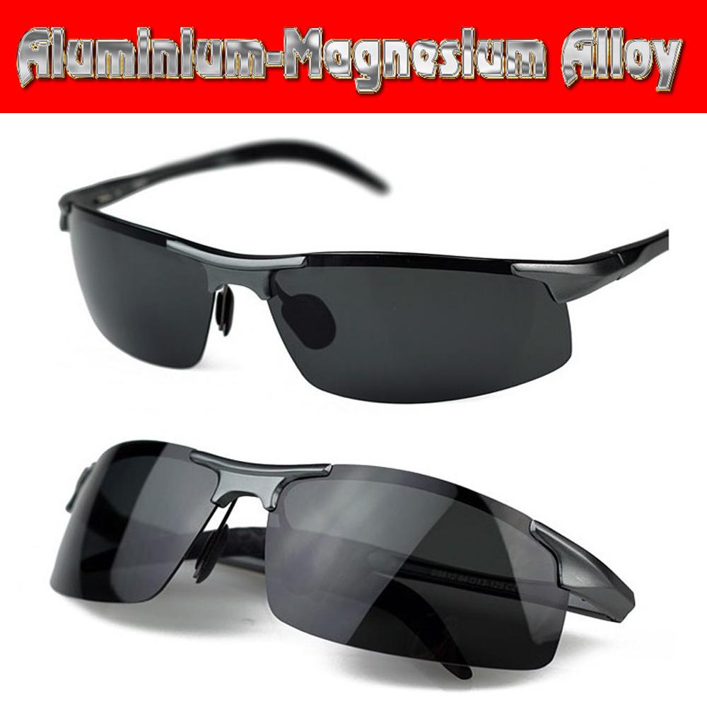 Aluminium titanium magnesium alloy battle field style polarized UV400 UV100% mens sunglasses(China (Mainland))