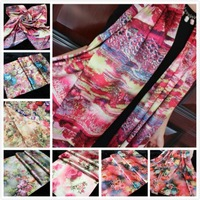Brand Fashion Women's Flower printing Long silk scarves/Scarf  luxury gift silk shawl Free shipping Wholesale 2014 Hot sale