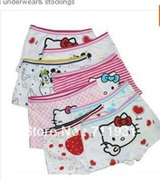 Panties baby gril pants underwear shorts kids briefs wholesale hello panties kitty clothes free shipping12pcs/lot boxer