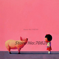 China The Famous contemporary painter Liu Ye Picture Abstract Canvas Painting Pome Aecor Art wall Oil Painting Free Shipping 28