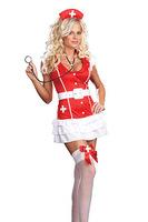 European and American sexy nurse uniform red sex costumes dress serving sex role-playing clothes 8927-3 , free shipping