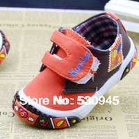 11Sizes 3Colors Canvas children shoes Velcro kids shoes boy shoes with Leather stitching design Antislip Kids Shoes 60106-22