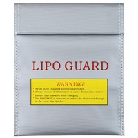 1 Pcs Silver RC LiPo Battery Safety Bag Safe Guard Charge Sack 180 X230 mm  Free Shipping Wholesale