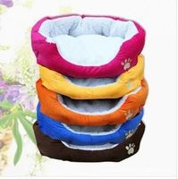 HOT ! 5pcs/lot  Colorful Pet Cat and Dog bed & Pink,Orange,Blue,Yellow,Brown,Gray,Green SIZE M,L Free Shipping