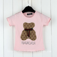 Free shipping girls  4-color short-sleeved T-shirt