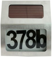 Solar powered house number light for door 1pcs/lot  Free shipping