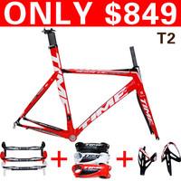 hot sell !2012 Time RXRS Ulteam carbon frame. T2 Red / White color Frame,fork,headset,seatpost,clamp,handlenar,stem,bottlecage