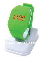 Free Shipping 50Pcs/Lot   Plastic Band Touch LED Watch,Electronic Digital Movement,Sports Watch